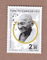 AC - TURKEY STAMP - 150th BIRTH ANNIVERSARY OF MAHATMA GANDHI INDIA MNH 24 SEPTEMBER2019 - 1921-... Repubblica