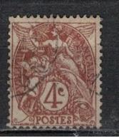 FRANCE            N°  YVERT    108  ( 6 )   OBLITERE       ( SD ) - 1900-29 Blanc