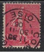 FRANCE            N°  YVERT    129   ( 1 )         OBLITERE       ( SD ) - 1903-60 Sower - Ligned