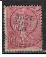 FRANCE            N°  YVERT    129   ( 7 )         OBLITERE       ( SD ) - 1903-60 Sower - Ligned