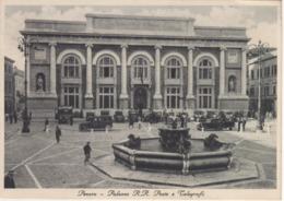 Italia Pesaro Piazza Vittorio Emanuele Con Fontana E Palazzo Regie Poste E Telegrafi Cartolina Viaggiata Nel 1939 - Pesaro