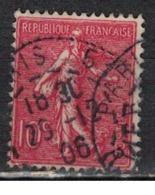 FRANCE            N°  YVERT    129   ( 12 )         OBLITERE       ( SD ) - 1903-60 Sower - Ligned