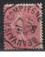 FRANCE            N°  YVERT    129   ( 13 )         OBLITERE       ( SD ) - 1903-60 Sower - Ligned