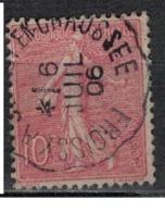 FRANCE            N°  YVERT    129   ( 14 )         OBLITERE       ( SD ) - 1903-60 Sower - Ligned