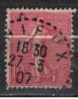 FRANCE            N°  YVERT    129   ( 16 )         OBLITERE       ( SD ) - 1903-60 Sower - Ligned