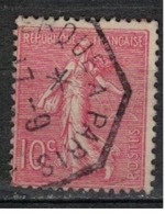 FRANCE            N°  YVERT    129   ( 17 )         OBLITERE       ( SD ) - 1903-60 Sower - Ligned