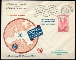 Enveloppes 1er Jour - Conseil De L'Europe - 1958 - STRASBOURG - 1958