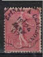 FRANCE            N°  YVERT    129   ( 20 )         OBLITERE       ( SD ) - 1903-60 Sower - Ligned