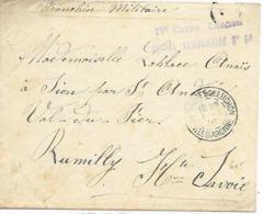 31- Cachet Hôpital Temp. N°54 De Luchon Sur Lettre Avec Correspondance Intéressante De 1916 - Marcophilie (Lettres)
