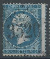 Lot N°51039  Variété/n°22, Oblit GC 3520 Ste-Bazeille, Lot-et-Garonne (45), Ind 6, Fond Ligné Verticalement - 1862 Napoleon III