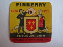 Etiquette De Fromage Fineberry Fabriqué Dans Le Berry Athomas à Saint Michel De Volangis Cher 18 - Fromage