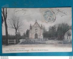 CPA - TOCTOUCAU PAR GAZINET - Place De L'Eglise St-Vincent (colorisée) - France