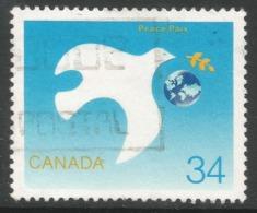 Canada. 1986 International Peace Year. 34c Used. SG 1215 - 1952-.... Reign Of Elizabeth II