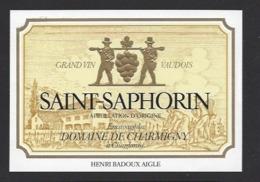 Etiquette De Vin Saint Saphorin  -  à Chardonne  (Suisse) - Thème Porteurs Grappe De Raisin - Etiquetas