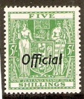 NEW ZEALAND 1938 5s OFFICIAL SGO119 LIGHTLY MOUNTED  MINT Cat £160 - Service