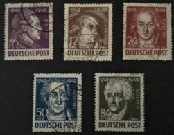 1949 200.Geburtstag Von Johann Wolfgang Von Goethe Mi.234-238 - Zona Sovietica