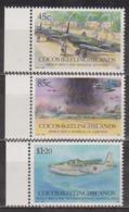 Seconde Guerre Mondiale - COCOS ISLANDS - Avion Spitfire De La RAF - Hydravion Sunderland - N° 261 à 263 ** - 1992 - Cocos (Keeling) Islands