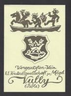 Etiquette De Vin -  Vully  (Suisse) - Thème Porteurs Grappe De Raisin - Etiquettes