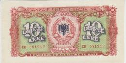 Albania 10 Leke 1957 Pick 28 UNC - Albanië