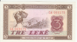 Albania 3 Lek 1964 Pick 34 UNC - Albania