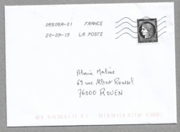 E55 - France 5305 CERES Seul Sur Enveloppe De 2019 Voyagée - - France