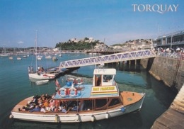 Postcard Torquay Harbour Bay Princess Pleasure Cruiser / Ferry ? In Foreground My Ref  B23780 - Torquay