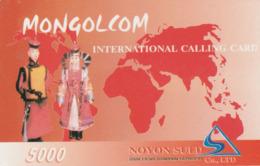 Mongolia - Mongolcom - Man And Woman - Mongolei