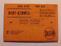 Postkaarten Boekje Kemmelberg Mont Kemmel Guerre 1914-1918 Front Belge Achter Den Oorlog/ Postcardbook World War I Kemme - Heuvelland