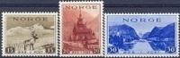 NOORWEGEN 1939 Toeristenzegels Zonder WM Dun Wit Papier Serie PF-MNH-NEUF - Ungebraucht