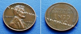 UNITED STATES USA 1 Cent ONE CENT 1956 D - LINCOLN - 1909-1958: Lincoln, Wheat Ears Reverse
