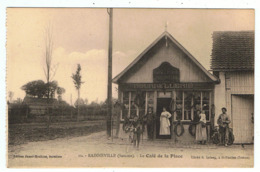 Rainneville / Le Café De La Place / Bourrellerie / Ed. Jumel-Houltier / Cliché R. Lelong - France