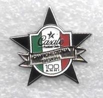 FC Casale 100° Anniversario Distintivi FootBall Soccer Spilla Pins Italy Campione D'Italia - Calcio