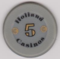 """Nederland """" Holland Casino """" 5 Gulden - Casino"""