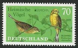 "ALEMANIA /GERMANY / DEUTSCHLAND -EUROPA 2019 -NATIONAL BIRDS.-""AVES -BIRDS -VÖGEL -OISEAUX""- SERIE De 1 V. - N - 2019"