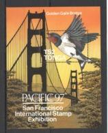 Y576 1997 TONGA FAUNA BIRDS GOLDEN GATE BRIDGE 1BL MNH - Other