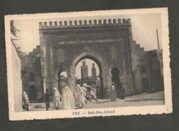 CPSM. Maroc. Fès. Bab-Bou-Jeloud. Portes. Animation. Mosquées. Circulé 1924. - Monuments