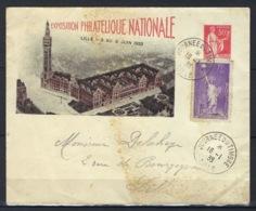 France, Entier Postal, Timbré Sur Commande, B5 A, Exposition De Lille, 3 Au 6 Juin 1933 - Postal Stamped Stationery