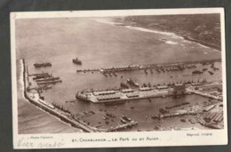 CPSM. Maroc. Casablanca. Le Port Vu En Avion. Circulé. Timbre Enlevé. Photo Véritable. Flandrin. - Monuments
