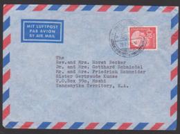 Theodor Heuss 80 Pf. BRD Mi. 192 Auslands-Lp-Brief Nach Moshi Tanganyika, SoSt. 28.2.61 - BRD