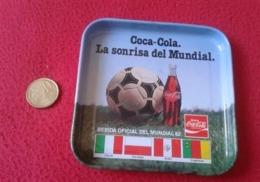 SPAIN POSAVASOS COASTER MAT COCA COLA WORLD CUP MUNDIAL DE FÚTBOL ESPAÑA 82 1982 CHAMPIONSHIP ITALY POLAND PERÚ FOOTBALL - Portavasos