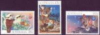 ( 1747 ) Australia - Christmas - 1990 - Birds - Mammals . - Kerstmis