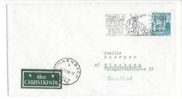 22338 - Christkindl 17.12.1968 Pour Würzburg + Vignette über Christkindl - Natale