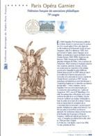 DOCUMENT FDC 2006 CONGRES FEDERATION PHILATELIQUE PARIS OPERA GARNIER - Documentos Del Correo