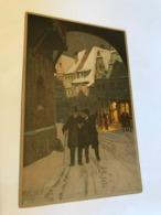 Paul Hey Litho Prosit Neujahr Happy New Year Men In Hat Winter Meissner Buch Leipzig 11331 Post Card Postkarte POSTCARD - Hey, Paul