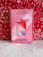Lancôme - échantillon Coffret La Vie Est Belle En Rose - Echantillons (tubes Sur Carte)