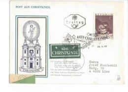 22341 - Christkindl 28.11.1969 Pour Linz + Vignettes - Noël