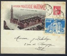 France, Entier Postal, Timbré Sur Commande, B5 A, Exposition De Lille, 3 Au 6 Juin 1933 Avec Vignette De L'exposition - Postal Stamped Stationery