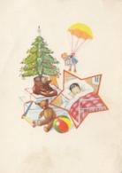 Christmas Tree Teddy Bear Doll Ball Romobil Postcard - Giochi, Giocattoli