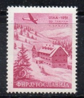 APR2011 - YUGOSLAVIA 1951 , Posta Aerea N. 42  ***  MNH  (2380A) - Airmail