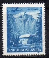 APR2012 - YUGOSLAVIA 1951 , Posta Aerea N. 43  ***  MNH  (2380A) - Airmail